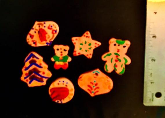Mini Terra Cotta Clay Christmas Ornaments