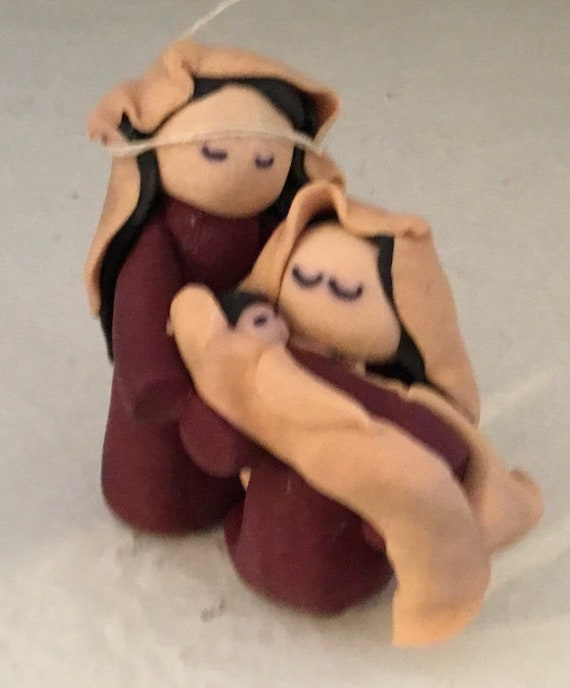 Nativity One Piece in Plum and Tan