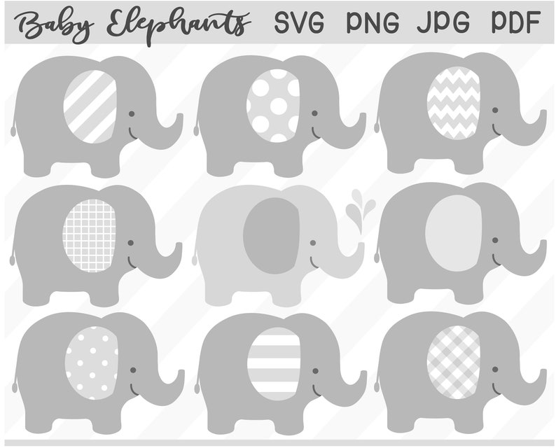photo relating to Printable Elephant named Youngster Elephant Clipart Established grey elephant svg - printable elephant - grey child shower - Particular person Industrial retain the services of SVG png jpg pdf