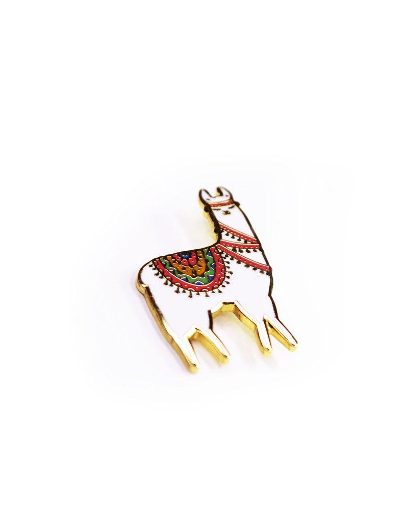 Alpaca  Enamel pin   FREE WORLDWIDE SHIPPING image 0