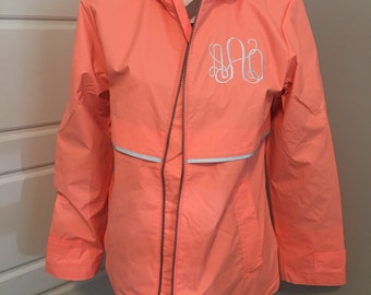 New bright Coral Charles River Rain Jacket