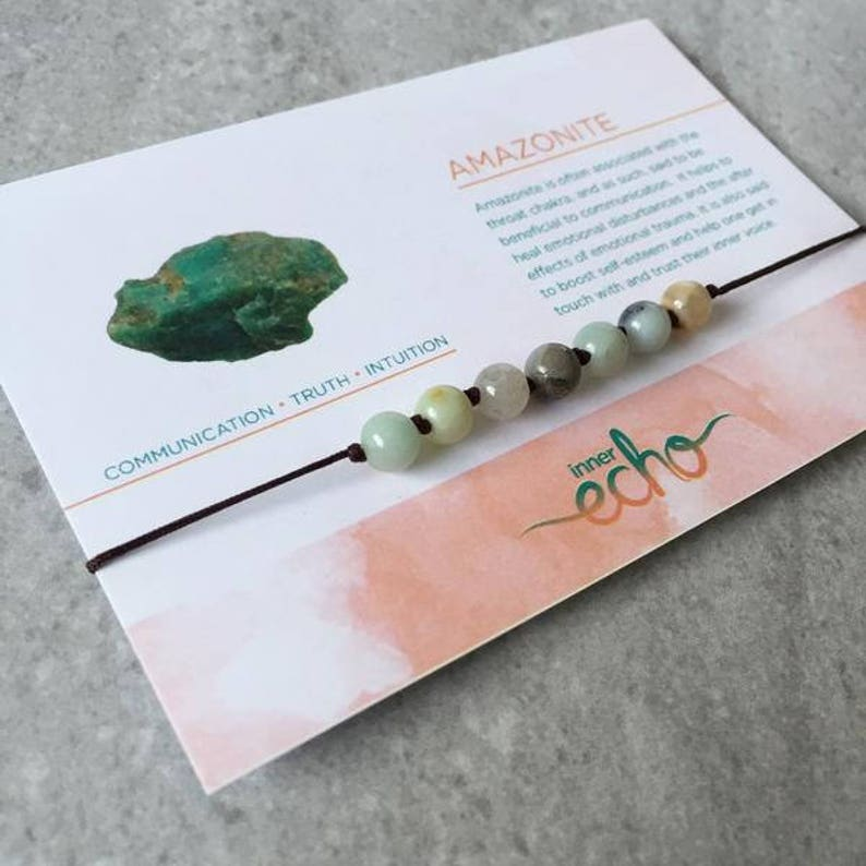 Amazonite Shamballa Bracelet  Adjustable Yoga Meditation image 0