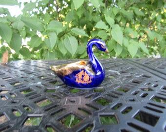 Vintage Limoges France 22K Gold /& Platinum Plated Swan