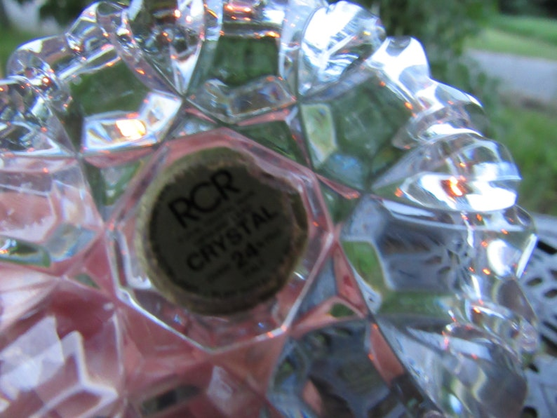 Vintage 24/% RCR Genuine Lead Crystal Ring Holder