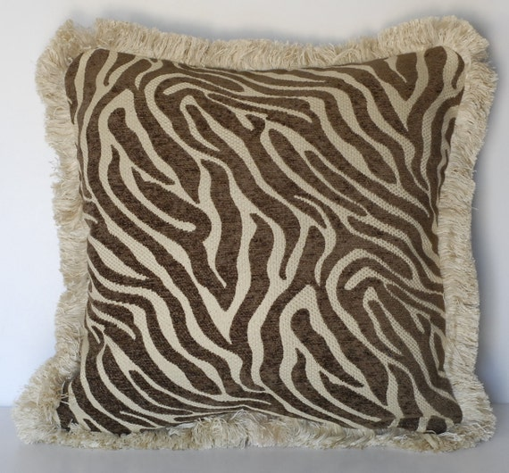 Remarkable Zebra Animal Skin Decorative Throw Pillow In Black White Brown Beige For Sofa Chair Or Couch Uwap Interior Chair Design Uwaporg