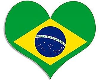 BRAZIL Flag Custom License Plate Brazilian Emblem USA /& BRAZIL Version