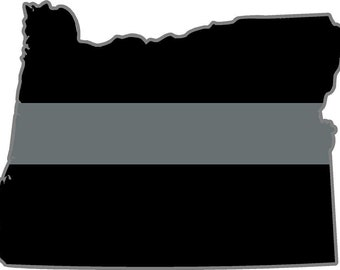 Iowa IA state thin SILVER line decal Corrections Officer Sticker Decal V