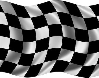Grim Reaper Racing Checkered Flag Racecar Car Truck Laptop Vinyl Decal Sticker