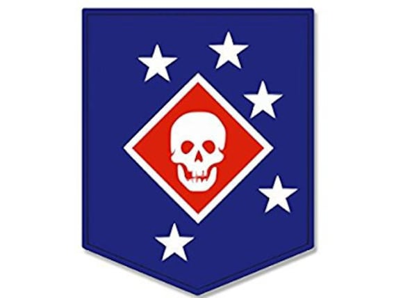 American Vinyl Marines Smile Back Bumper Sticker Death Smiles at Everyone USMC Corps