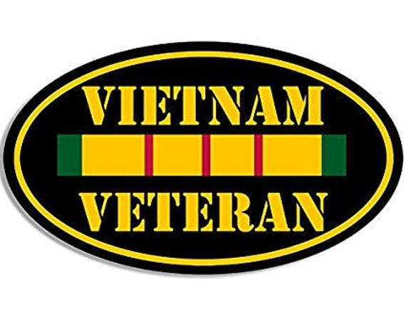 Agent Orange Sprayed and Betrayed Circle Decal//Bumper Sticker Vietnam Veteran