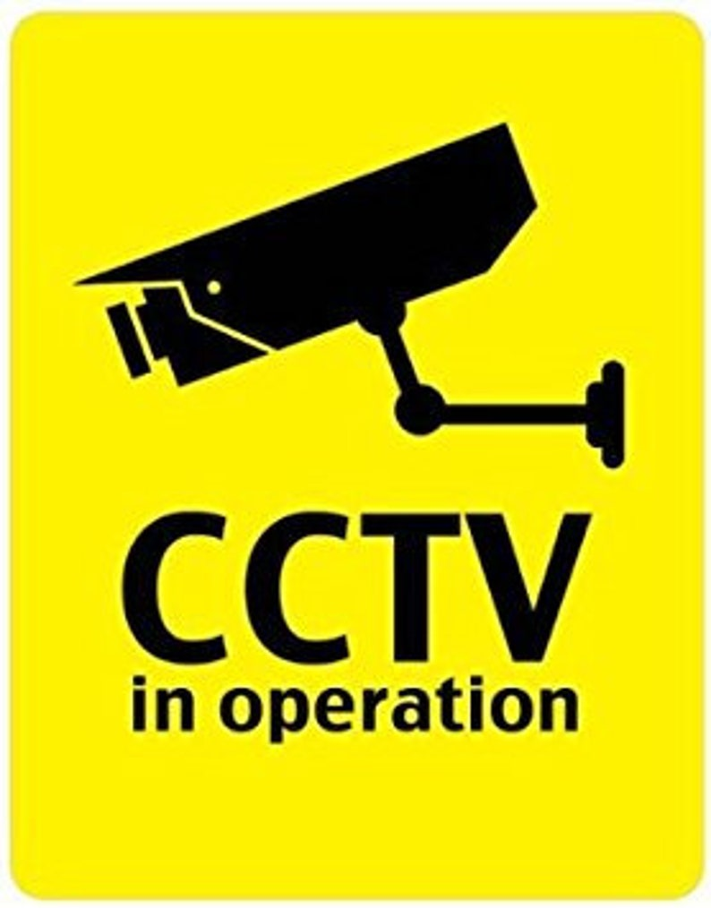 Cctv In Operation Security Camera Sticker Video Cam | Etsy