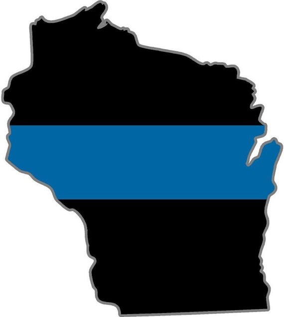 Oregon OR State Thin Blue Line Police Sticker Decal #214 Made in U.S.A.