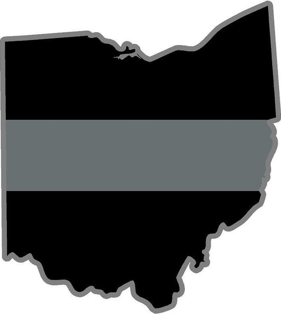 """MAGNET 2-3/"""" OH Ohio State Thin Blue Line Decal SET Police Sheriff MAGNETIC ..."""