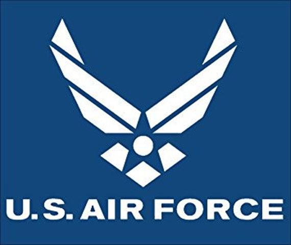 US AIR FORCE VETERAN OVAL BUMPER STICKER LAPTOP STICKER TOOLBOX STICKER