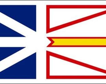 Newfoundland Flag Sticker (Canada Canadian Province)