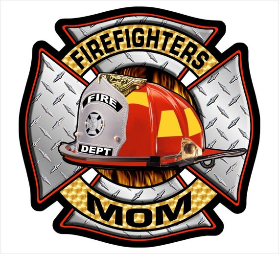 Louisiana State Shaped Maltese Cross Sticker Fire Firefighter Dept Fireman