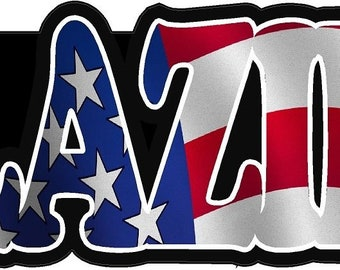 """Magnet Glazier American Flag Hard Hat Magnetic Sticker Window Glass Decal Magnetic Sticker 3"""" X 1"""""""