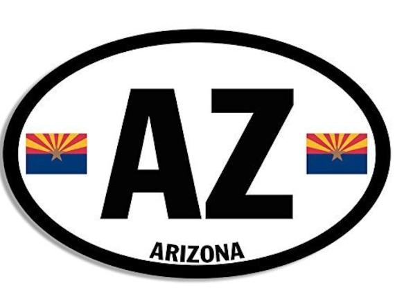 ; State Bumper Sticker Oval Arizona