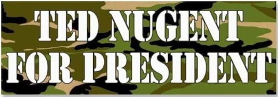 American Vinyl Blue Ted Nugent 2024 Bumper Sticker Badass Bowhunter Trump President