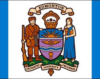 Edmonton Flag Sticker (Canada Decal Alberta)