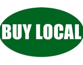 Oval Green Buy Local Sticker (Farmers Market)