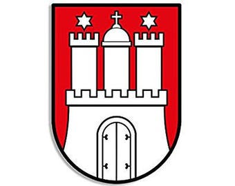 Hamburg Coat Of Arms Sticker (germany deutschland)