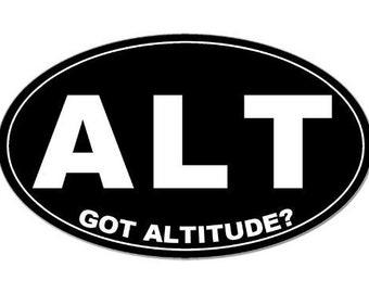 Oval Alt Got Altitude Ski Resort Sticker
