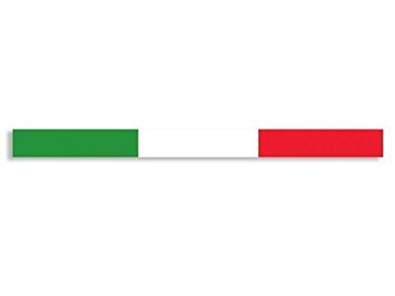 Autocollant Drapeau Italie traits 2/uds.