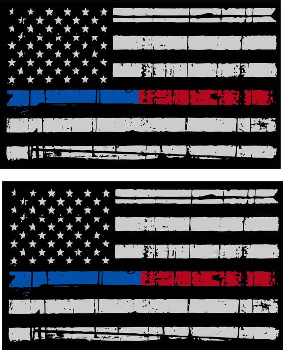 """FULLY REFLECTIVE AMERICAN FLAG FIRE HELMET DECAL 3/"""" x 1.75/"""" firefighting EMS"""
