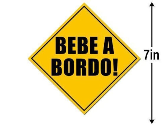 French Baby on Board Safety Decal Magnetic Caution Sign Shaped Bebe A Bord Magnet
