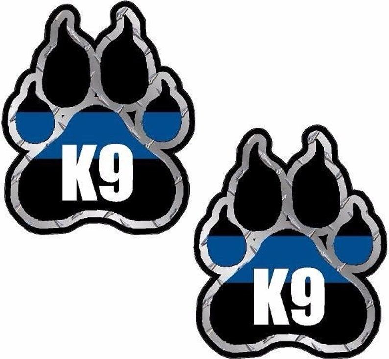 Police Decal WARNING POLICE K9 Law Enforcement Sheriff Dog Car Window Sticker