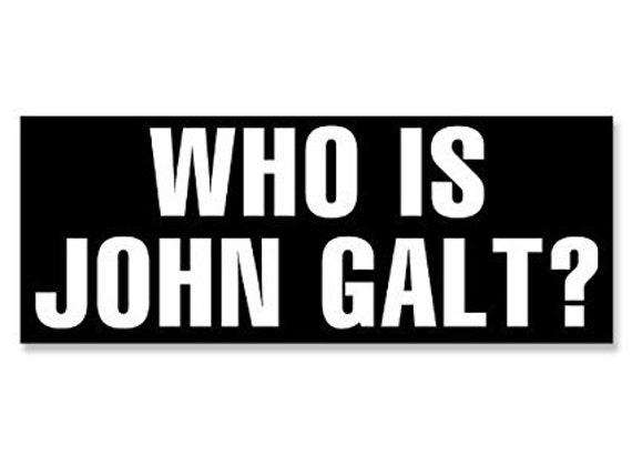 3x9 Libertarian Who Is John Galt Bumper Sticker
