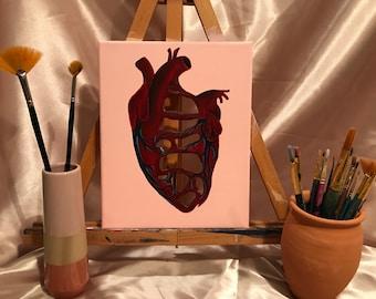 Art Painting Broken Heart Etsy