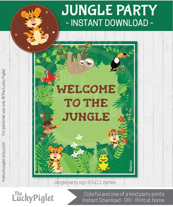 Jungle Partij Tekenen Jungle Verjaardag Versiering Jungle Etsy