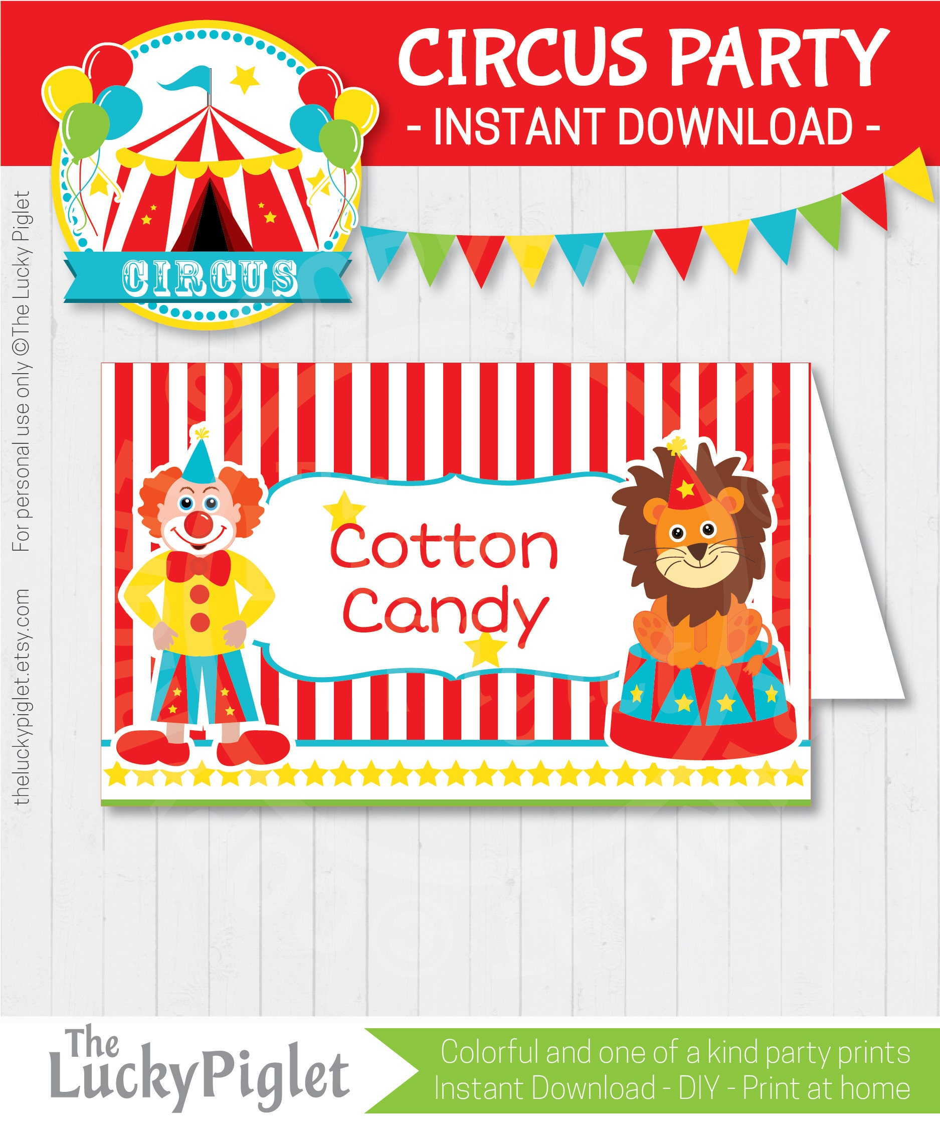 CIRCUS PARTY Food LABELS Carnival Food Labels Circus Party | Etsy