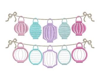 5 Chinese Lanterns Garland