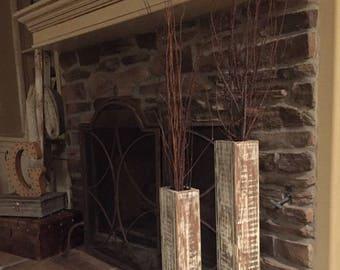 wooden floor vase etsy - Wooden Floor Vase