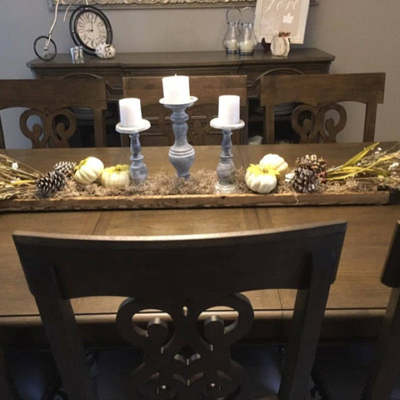 Wood centerpiece Holiday tray Christmas decor Thanksgiving tray Wedding table centerpiece box 30 Rustic long holiday tray