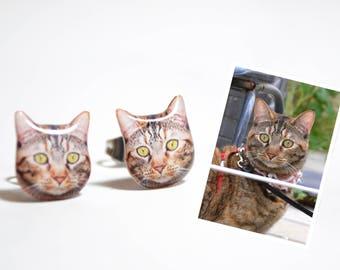 Customize Pet Earrings, Cat Custom Earrings, Dog Custom Earrings, Cat Lover Gifts, Dog Lover Gifts, Pet memorial Gifts