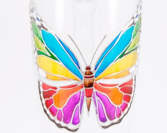 Butterfly Mug, Unique Butterfly Cup, Butterfly Gift, Butterfly Coffee Mug, Hand Painted Butterfly Gift, Colorful Butterfly for Her