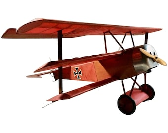 Details about  Stunning Fokker Dr.1 Triplane Red Baron WW1 Aeroplane Model Plane Scale Model
