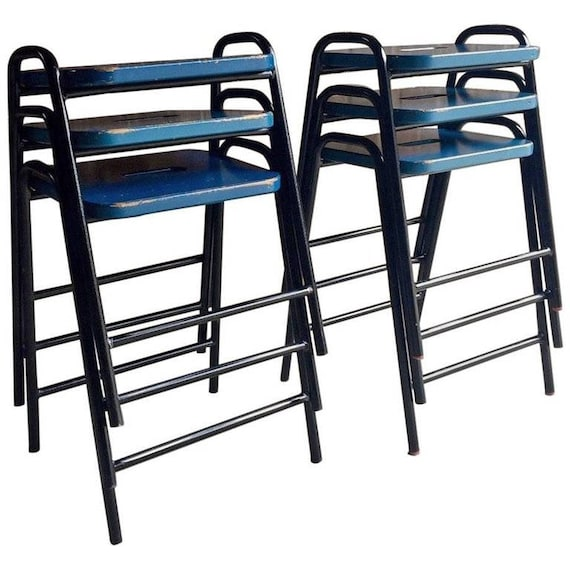 Swell Fabulous Set Of Six Science Lab Bar Stools Industrial Ocoug Best Dining Table And Chair Ideas Images Ocougorg