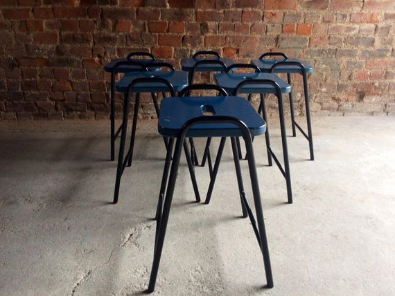 Magnificent Fabulous Set Of Six Science Lab Bar Stools Industrial Ocoug Best Dining Table And Chair Ideas Images Ocougorg