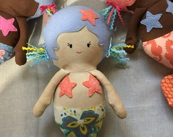Mermaids Handmade of quality cotton fabric