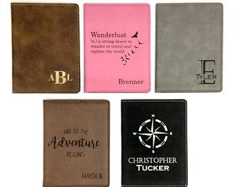 Passport Holder-Passport Cover-Passport Cover Personalized- Custom Passport  Cover- Engraved Passport Cover- Monogrammed Passport Holder b50eb6340