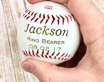 Personalized Laser Engraved Baseball, Custom Baseball, Ring Bearer, Ring Security, Ring Bearer Gift, Junior Groomsman, Baseball Gift