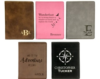 Passport Holder-Passport Cover-Passport Cover Personalized- Custom Passport Cover- Engraved Passport Cover- Monogrammed Passport Holder