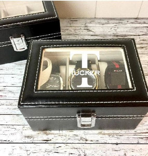 Groom Gift Groomsmen Gift Personalized Watch Box Engraved Watch Box Mens Watch Box Father S Day Gift Dad Gift Anniversary Gift