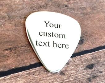 Personalized Guitar Pick, Custom Guitar Pick, Engraved Guitar Pick