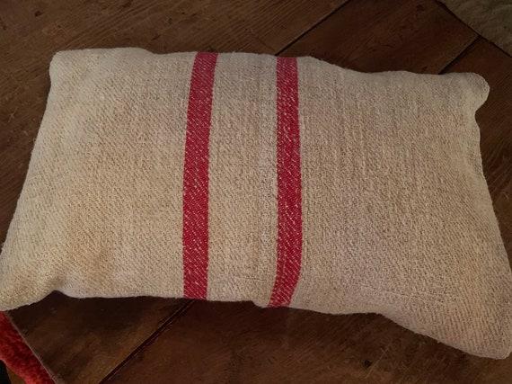 Antique Feedsack Pillow